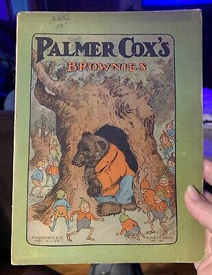Rare Antique Old PALMER COX'S BROWNIES STORIES Book M.A Donohue (1892)