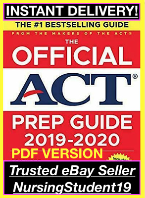 THE OFFICIAL ACT PREP GUIDE 2018-2019 from the MAKERS of the ACT (PDF)*FAST SHIP