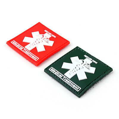 Rescuer Gear Medical Treatment 3D Tactical Army PVC Rubber Klettband Patch BS7.