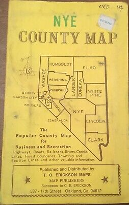 "1976 FREESE CLARK County Map - Nevada 34"" x 27"" Free"