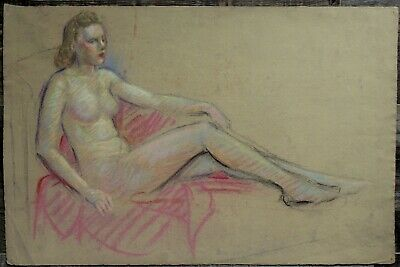 Listed Canadian Stanley Gordon Moyer (1887-1968) Drawing - Nude Female No.10