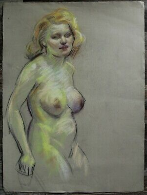 Listed Canadian Stanley Gordon Moyer (1887-1968) Drawing - Nude Female No.12