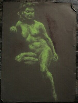 Listed Canadian Stanley Gordon Moyer (1887-1968) Drawing - Nude Female No.15