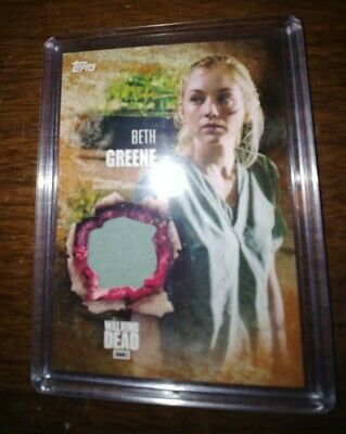 2016 Topps The Walking Dead Season 5 Beth Greene Authentic Shirt Relic Card rust