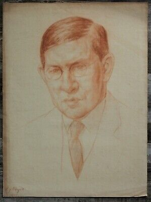 Canadian Stanley Gordon Moyer (1887-1968) - Signed Sanguine Portrait 3 - c1925