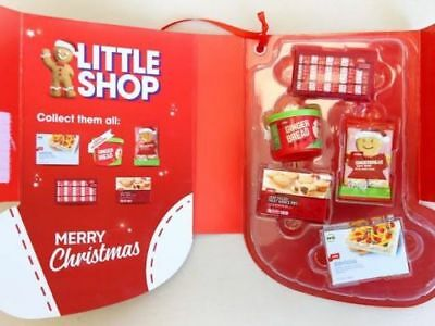 Coles Little Shop Mini Collectables Christmas Edition Case + FULL SET Minis