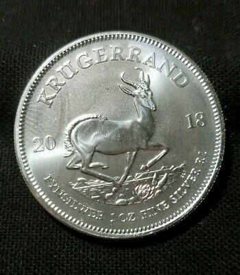 2018 South Africa Krugerrand One Troy Ounce Fine Silver Coin