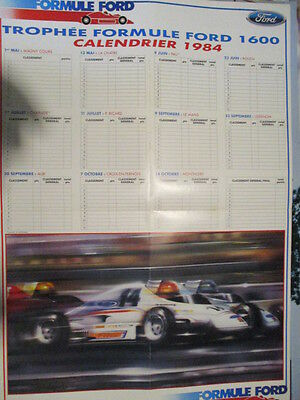 Poster 4 Pages Auto : Calendrier Ff 1600 1984