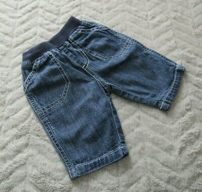 Baby Boys 100% Cotton Denim Blue Jeans Trousers (New Baby) - By Mothercare