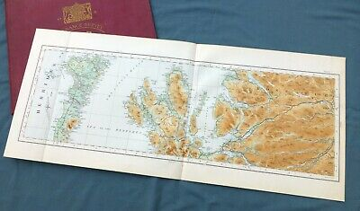 SCOTLAND, 1924 - Vintage Cloth OS Map of THE ISLE OF SKYE & THE OUTER HEBRIDES.