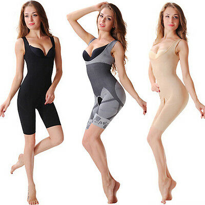 Women Lingerie Body Shaper Bra Full Bodysuit Briefer Shapewear Panties CP