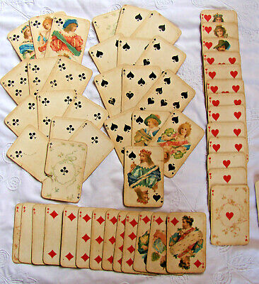 Complete Antique Pack of B. Dondorf: 'Stuart Zeit No.178' Playing Cards