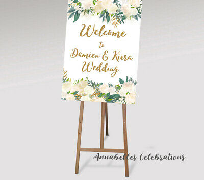 photo about Printable Welcome Sign identify PRINTABLE WELCOME Indicator Marriage Kid Shower Engagement Roses Gold Peach Floral