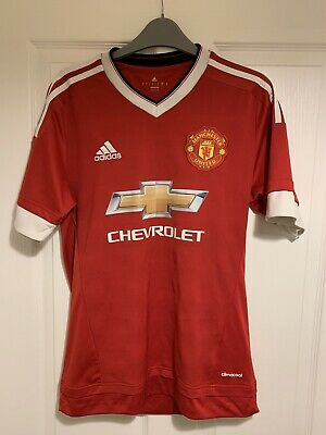 2015/2016 Manchester United home football shirt Adidas small men MUFC Chevrolet