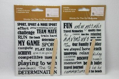 Scrapbook rub ons NEW 2 packs Sport and Holidays