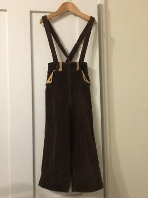 Vintage Children's Cord Dungaree Style Trousers. Approx Age 4-5
