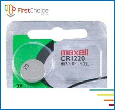 New Maxell CR1220 3V Lithium Coin Cell Watch Batteries 1 PK USA SELLER