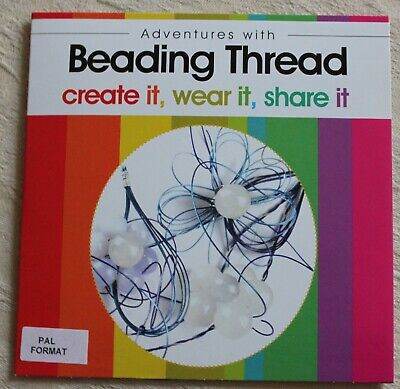 ADVENTURES WITH BEADING THREAD crafts tuition DVD gemstones beads tools