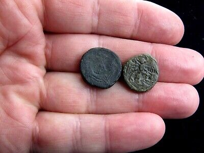 Two Medieval Bronze Coin Weights