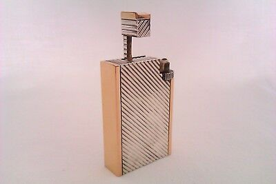 Rare Solid Silver & 18ct Rose Gold French Art Deco Lift Arm Lighter Circa 1932