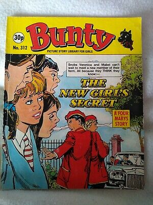 BUNTY PICTURE STORY LIBRARY BOOK The new girl's secret no.312 good condition