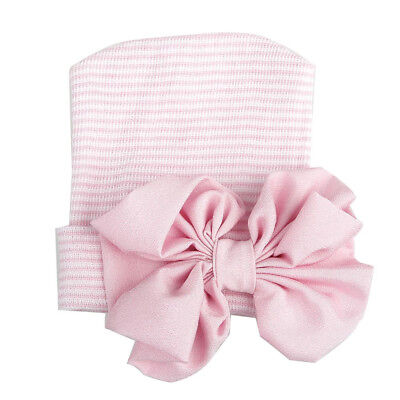 Cute Baby Girls Boys Bowknot Cartoon Toddlers Cotton Sleep Cap Headwear Hat VA L