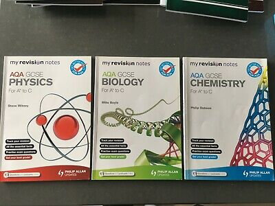 GCSE 4 AQA Chemistry, Physics & Biology & Combined Science Revision Guides