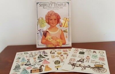 Shirley Temple Paper Doll Cut- Out Book Plus 3 Extra Victorian Style Cut-Outs Sh