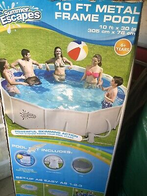 10ft Frame Pool With Filter And Cover