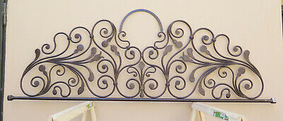Bed Header Cover Bedding Matrimonial Wrought Iron Headboard Period Vintage 13