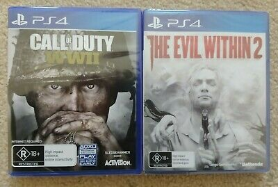 New Call of Duty WW2 & The Evil Within 2 Playstation 4 PS4 Games