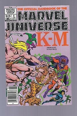 High Grade Canadian Newsstand Edition Marvel Universe #6 $1.25 Price