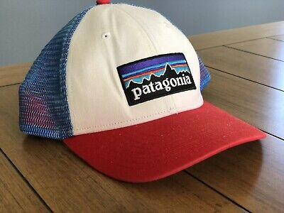 380eef66ef91f PATAGONIA P-6 LOGO Trucker Hat in Red