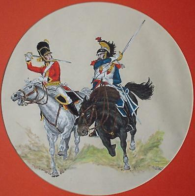 19thC Balkan Soldiers Horses Cuirassier A British Officer Watercolour c1980s