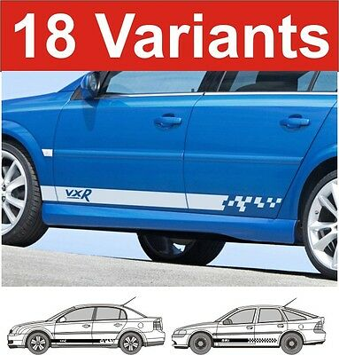 Vauxhall vectra vxr gsi sri sxi side stripe decals 2 off choice of design