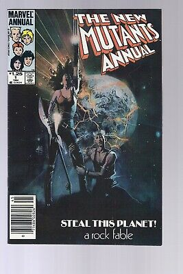 High Grade Canadian Newsstand Edition New Mutants Annual #1 $1.25 Price Variant