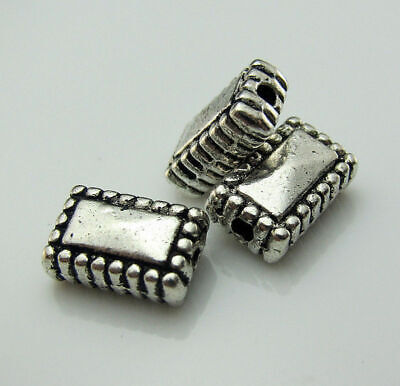Findings beads Free silver Jewelry 15pcs Making Tibetan Loose Cuboid Lots spacer