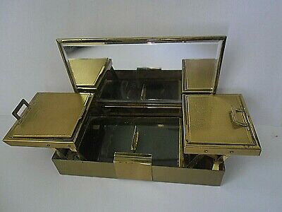 "Vintage Very Rare C1930/40 L.s.mayer ""martini"" Cantilever Vanity Case Compact"