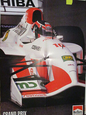 Poster 4 Pages Auto : Formule 1 Footwork Pilote Inconnu