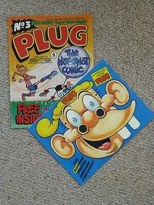 Plug Comic No. 3 - 8 October 1977 - Near Mint Condition - Includes Free Gift