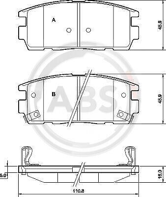 NEW 37583 ABS Brake pads BP4e20 OE REPLACEMENT