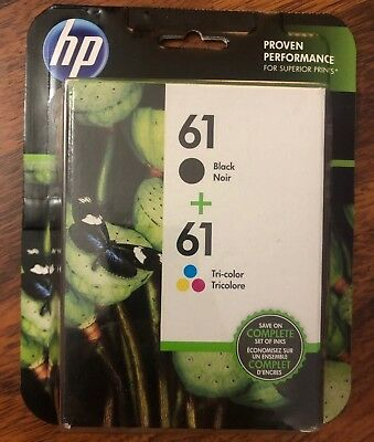 Genuine HP 61 Black & Tri Color New Sealed 4/2020+ FREE SHIPPING