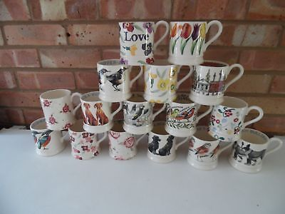 Emma Bridgewater Large Collection of ½ Pint Mugs 16 Different Designs Brand New