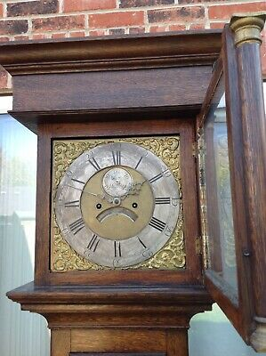 Early 8 Day Internal Count Wheel Longcase Clock