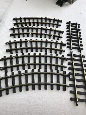New Bright Holiday Express 5 Curved And 2 STRAIGHT TRACKS 384