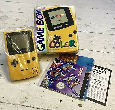 Nintendo Game Boy Colour (yellow) Boxed UKV + Instruction Pak