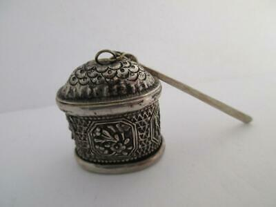 antique c1890 STERLING SILVER CHINESE SILVER MARKED SEE PICTURE snuff box k206