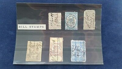Small Job Lot Of Used Fiscal Revenue Tax/Bill Stamps