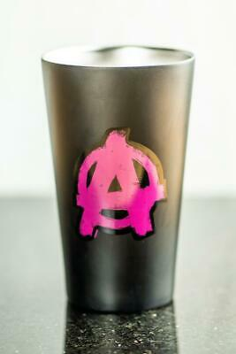 Rage 2 Pint Glass Brushed Stainless Steel Cup Matte Black 18 OZ Bethesda