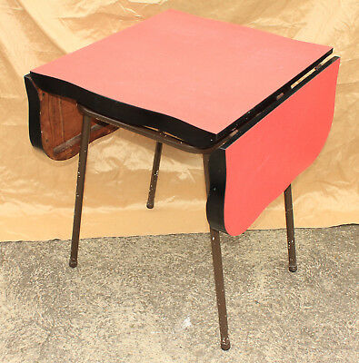 Vintage Mid - Century Modern  1950 / 60s English Formica Drop Leaf Table